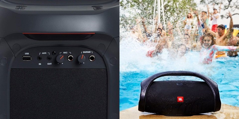 JBL PartyBox 100 vs Boombox Features