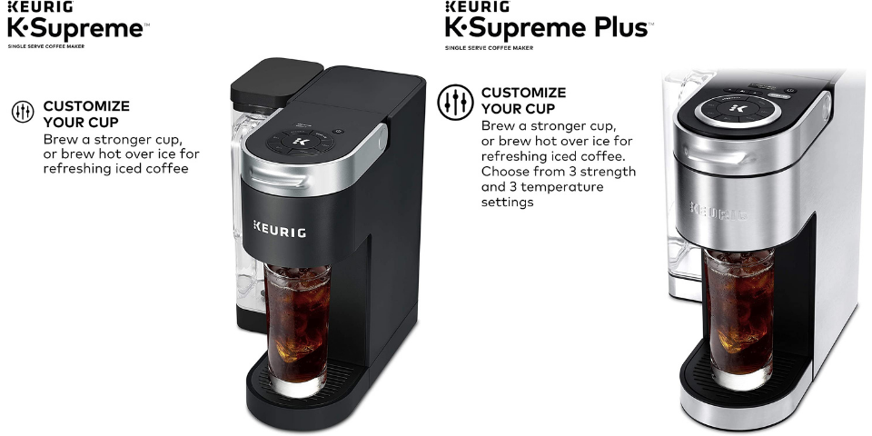 keurig supreme vs supreme plus brew settings
