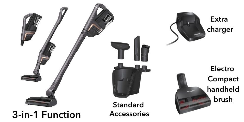 miele triflex cordless stick vacuum configuration and accessories