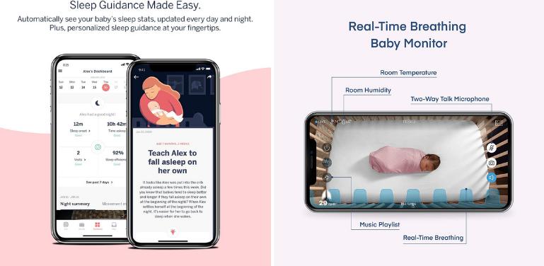 Nanit vs Miku Mobile App for Baby Monitoring