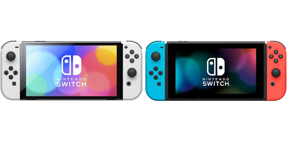 nintendo switch oled vs original display