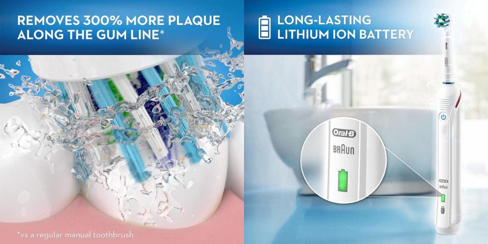 oral b 1000 vs 1500 battery life