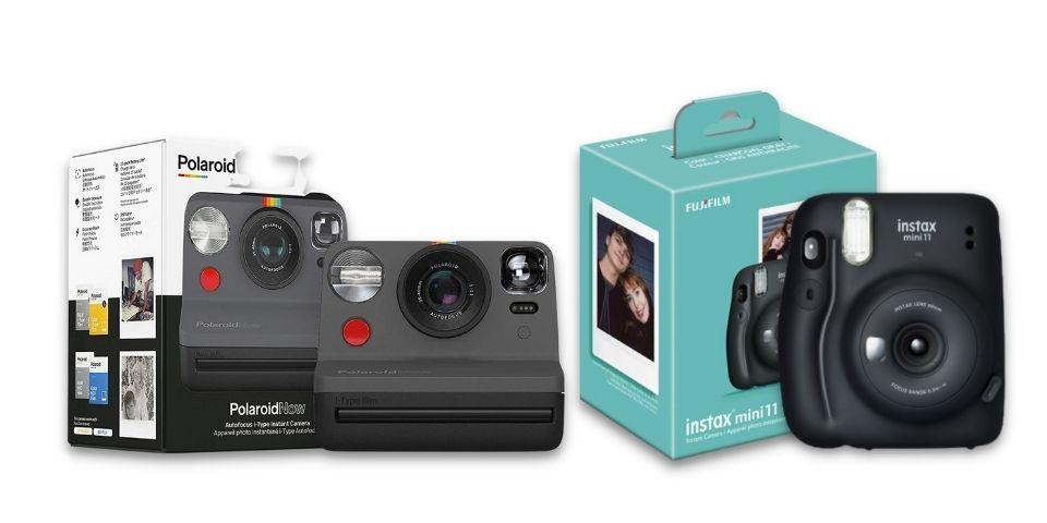 Polaroid Now and Instax Mini 11 boxes