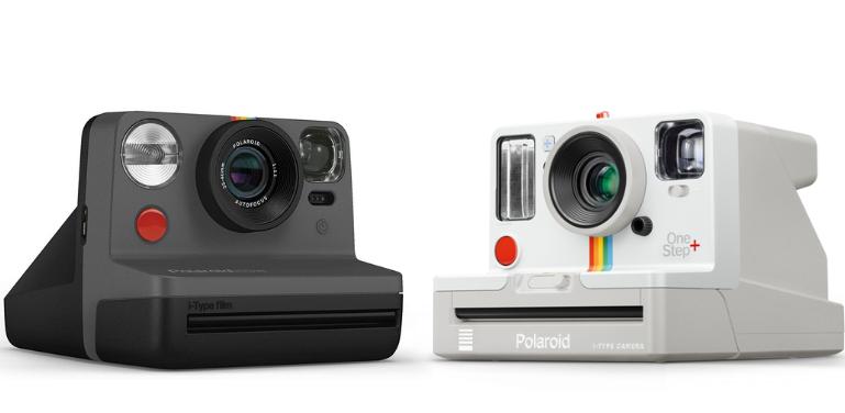 Polaroid Now vs Polaroid OneStep+ Design Comparison