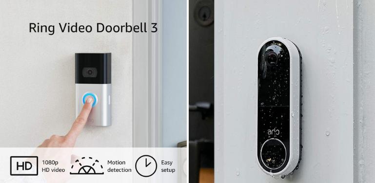 Ring Doorbell vs Arlo Design Comparison