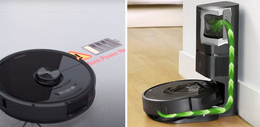 battery life roborock s6 maxv vs roomba i7