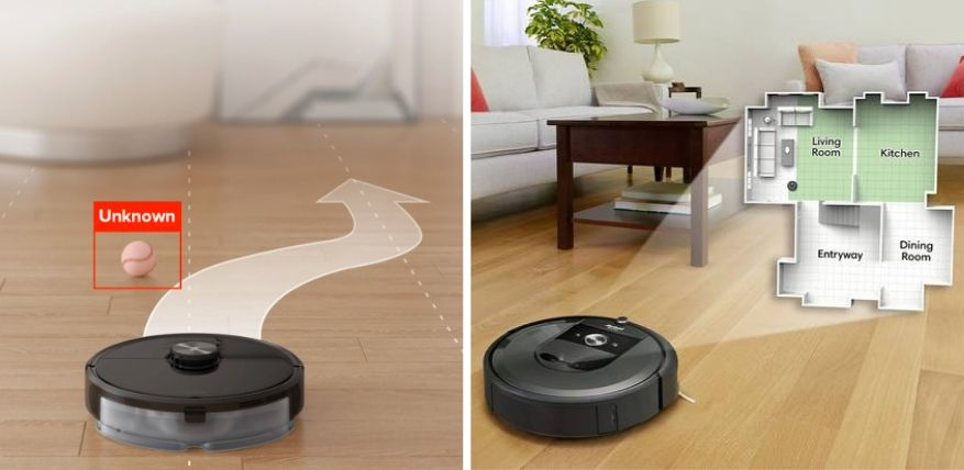 mapping and navigation roborock s6 maxv vs roomba i7