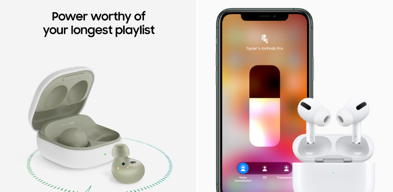 Samsung Galaxy Buds 2 vs AirPods Pro Battery and Other Features