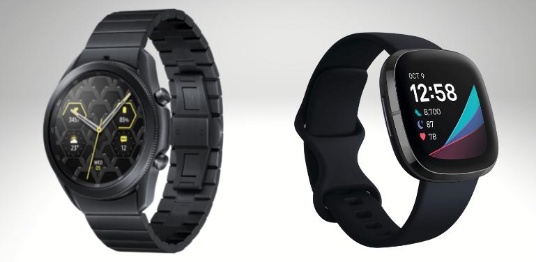 Samsung Galaxy Watch 3 vs Fitbit Sense Design Comparison