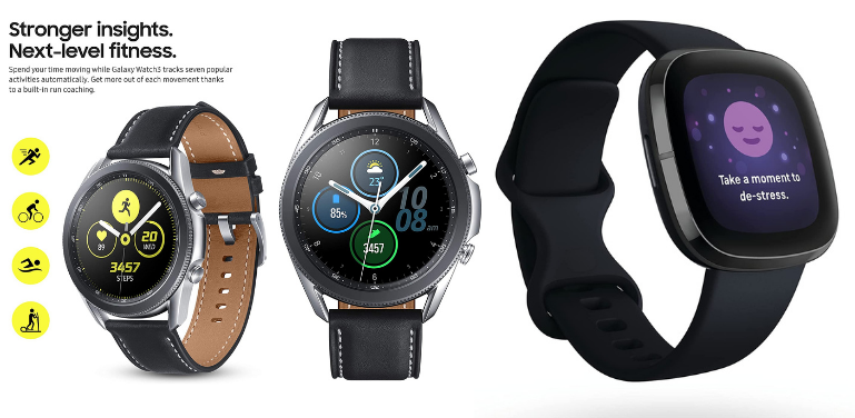 Samsung Galaxy Watch 3 vs Fitbit Sense Fitness and Health Features