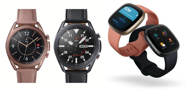 Samsung Galaxy Watch 3 vs Fitbit Versa 3 Design Comparison