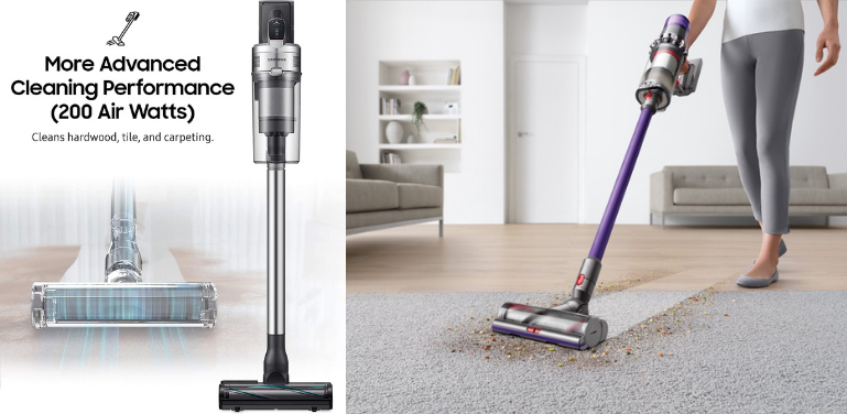 Samsung Jet 90 vs Dyson V11 Cleaning Performance