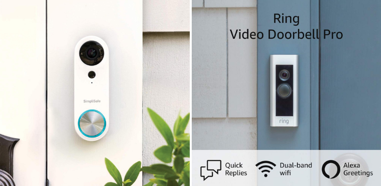 SimpliSafe Doorbell vs Ring Design and Style