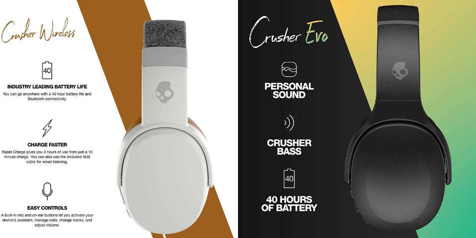 skullcandy crusher vs crusher evo battery life