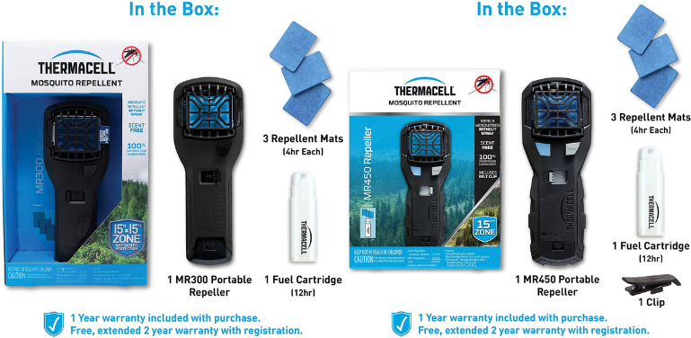 Thermacell MR300 vs M450 Mosquito Repeller Design and Technology