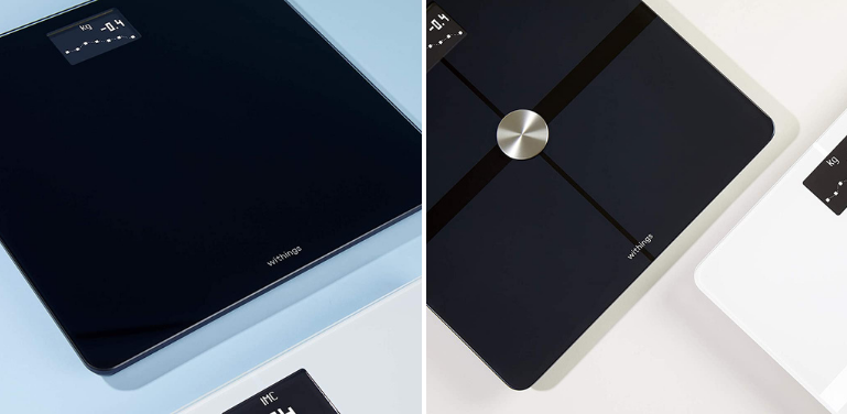 Withings Body vs Body Plus Scale Design