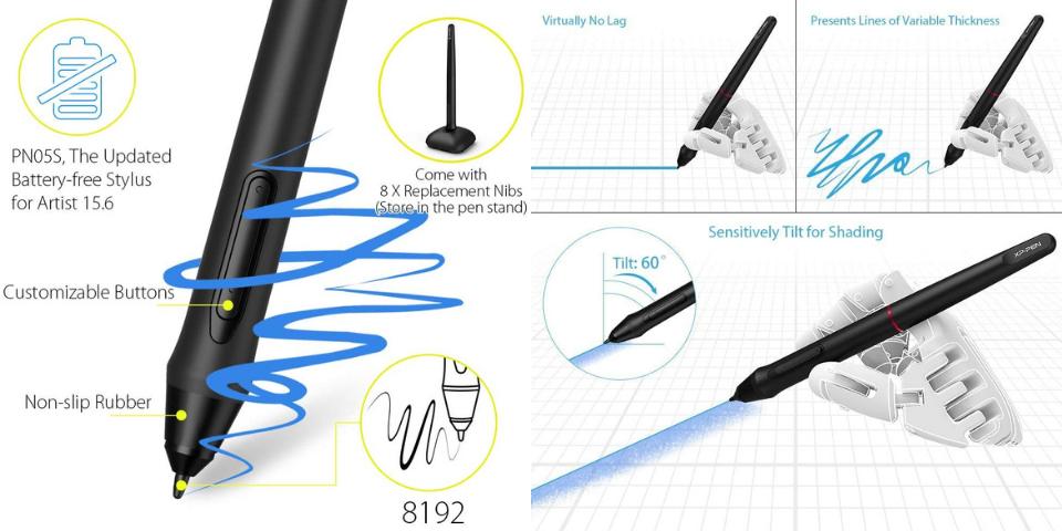 xp pen artist 15.6 vs pro accessories