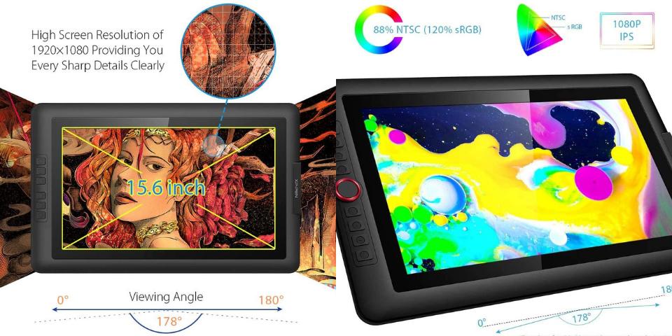 xp pen artist 15.6 vs pro display